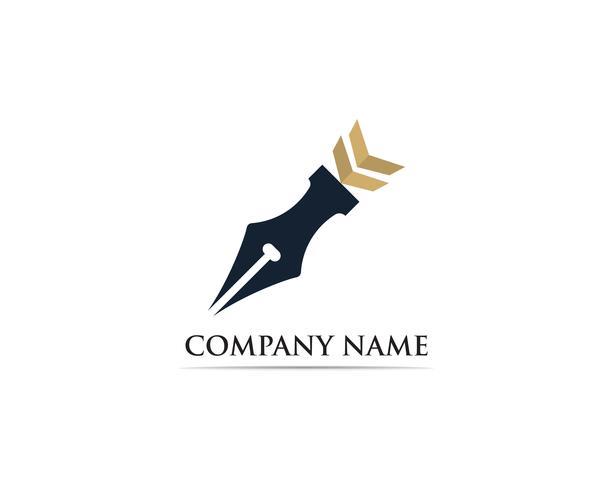 Writer pen Logo template Vector