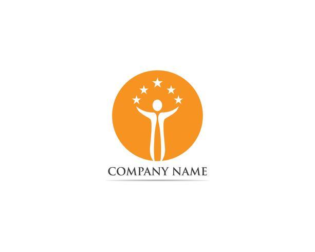 Success people logo vector template