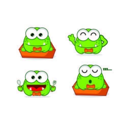 Projetos bonitos do logotipo da mascote do caráter do monstro