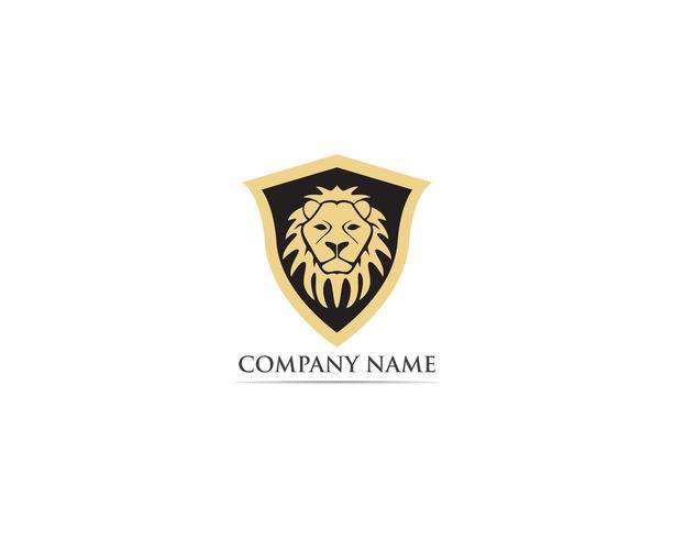Logo et symbole de mascotte tête de lion