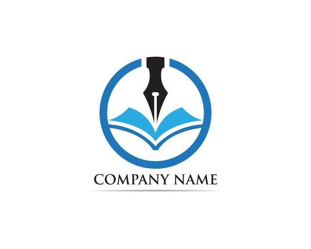 Escritor pen Logo Template Vector