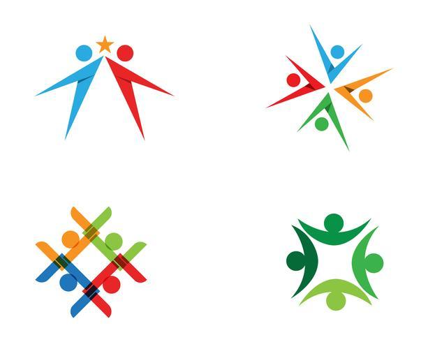 Modèle de conception d'icône de communauté, réseau et social.