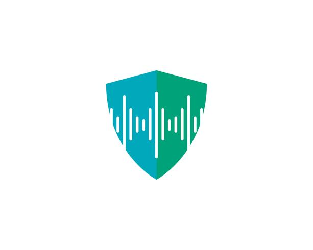 plantilla de vector logo escudo