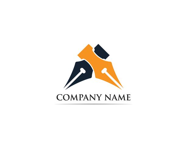 Schrijver pen Logo sjabloon Vector