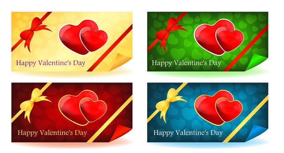 Due cuori - set di carte di San Valentino