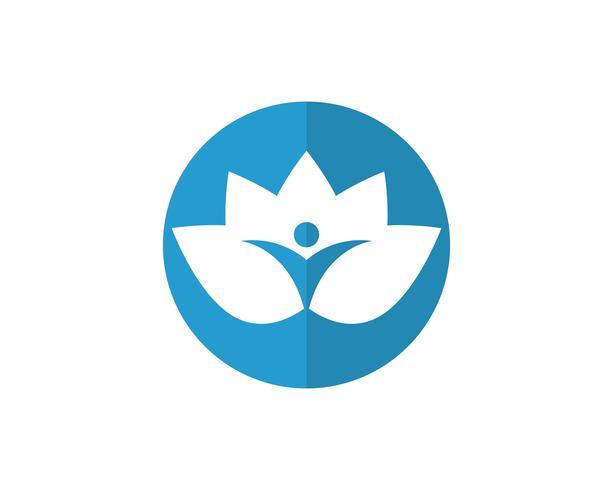 Lotus Menschen Logo und Symbole