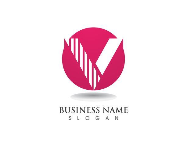 V logo aziendale lettera icone