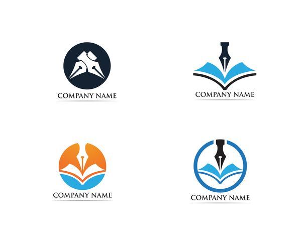 Stylo d'écriture Logo template Vector
