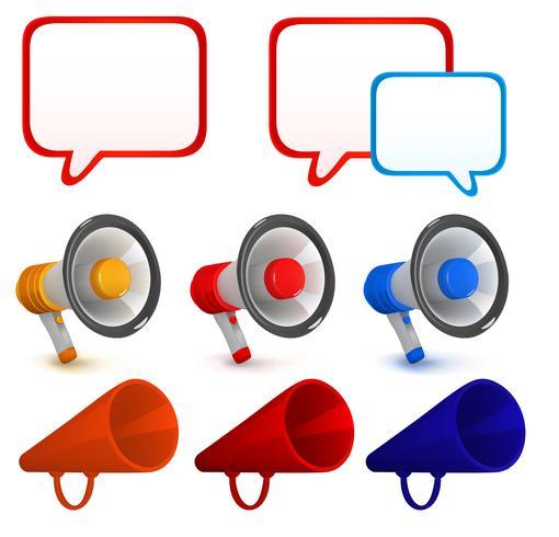 Speech icons set