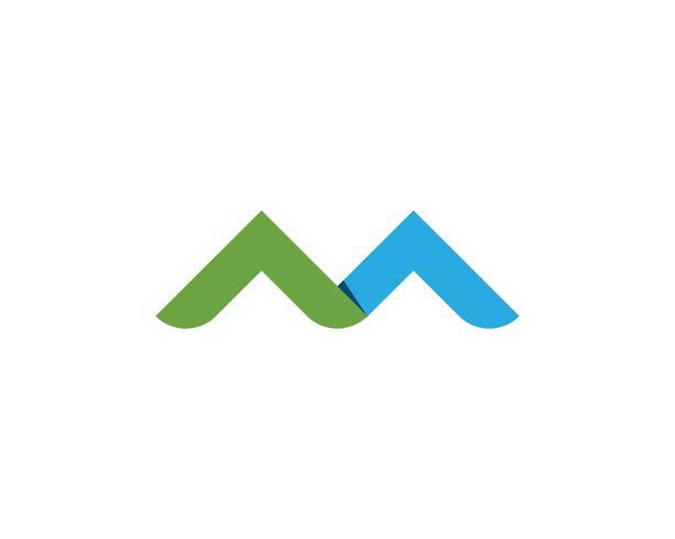 M Letter Logo Business Template Vetor ícone