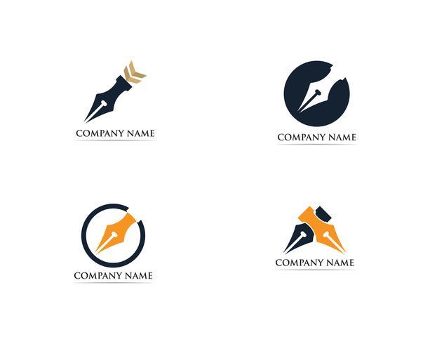 Writer penna Logo modello vettoriale