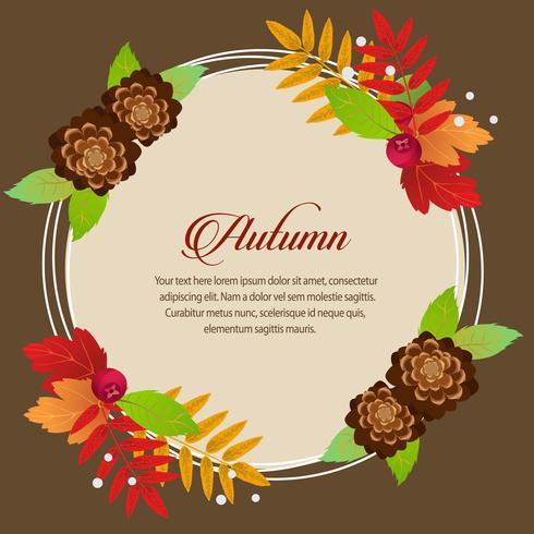 feuillage d'automne rond