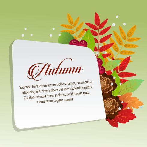 feliz otoño con hojas de follaje