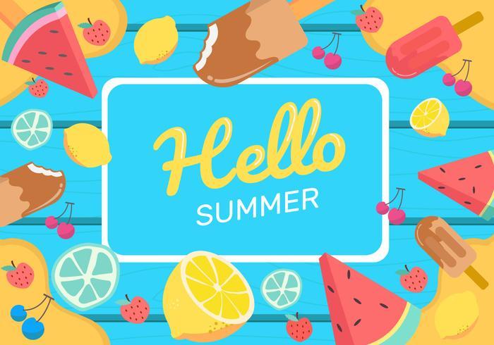 Illustrazione di vettore del fondo dell'alimento di estate