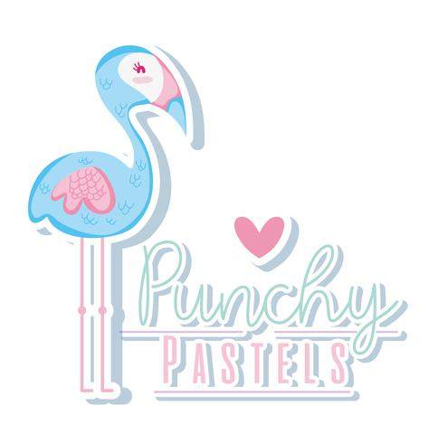 Punchy Pastell trendiges Konzept