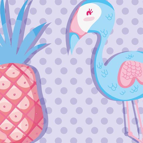 Fenicottero e frutti pastellati