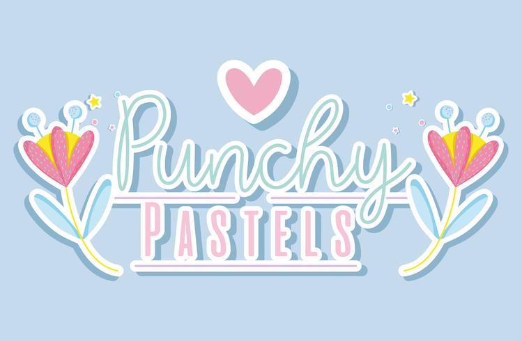 Punchy pastell trendigt koncept