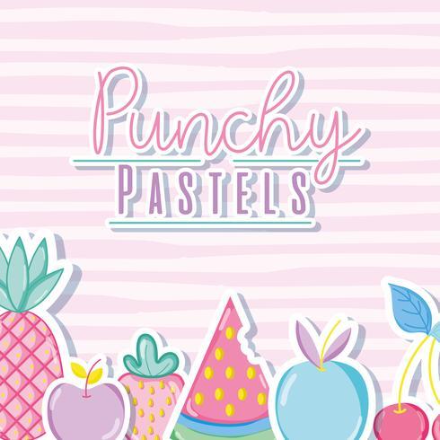 Punchy pastello concetto alla moda