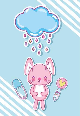 Cartoni animati di coniglietti carini