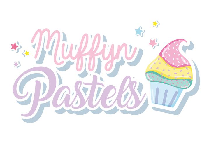 Muffins punchy pastels