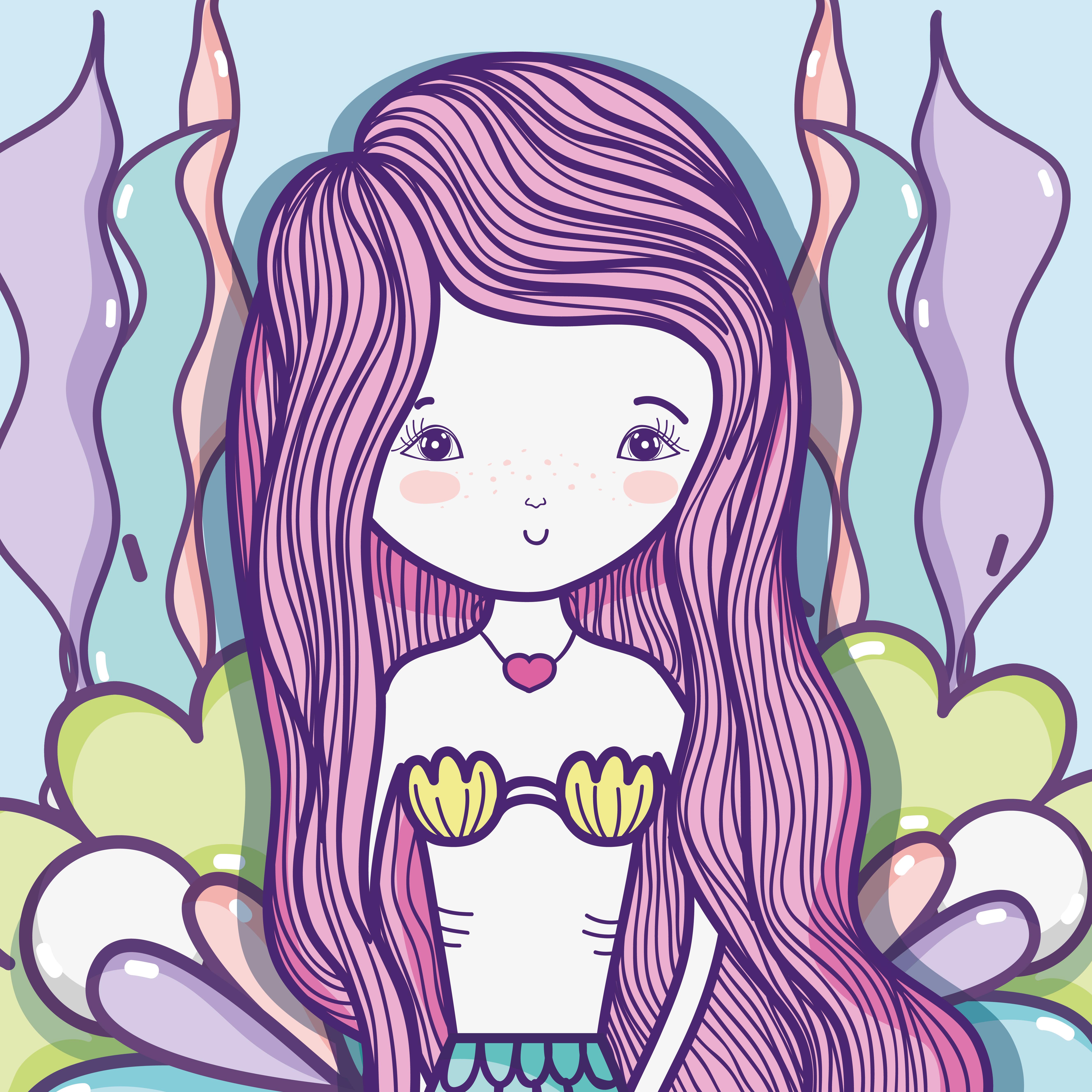 美人魚卡通 免費下載   天天瘋後製