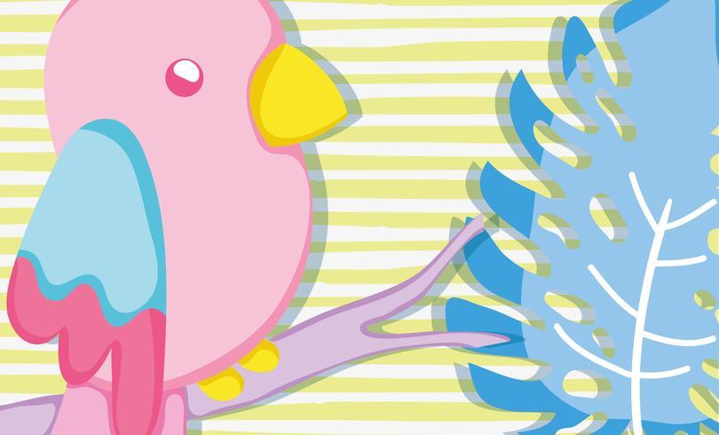 Punchy pastel mignon dessin animé perroquet