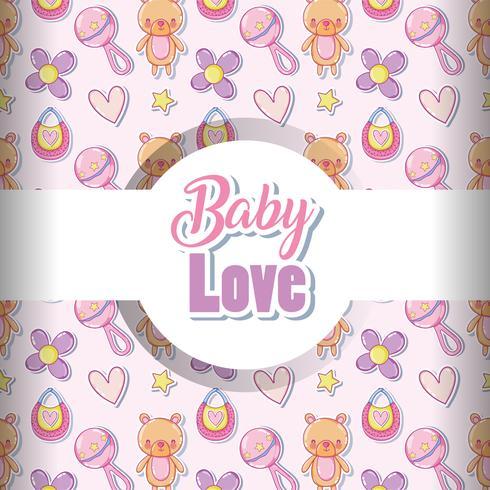 Fond d'amour bébé