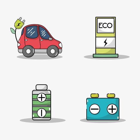 stel de accu van de elektrische auto en de technologie voor het opladen van energie in