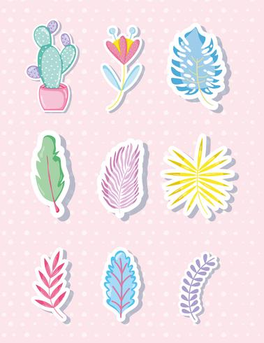Punchy pastels leaves collection