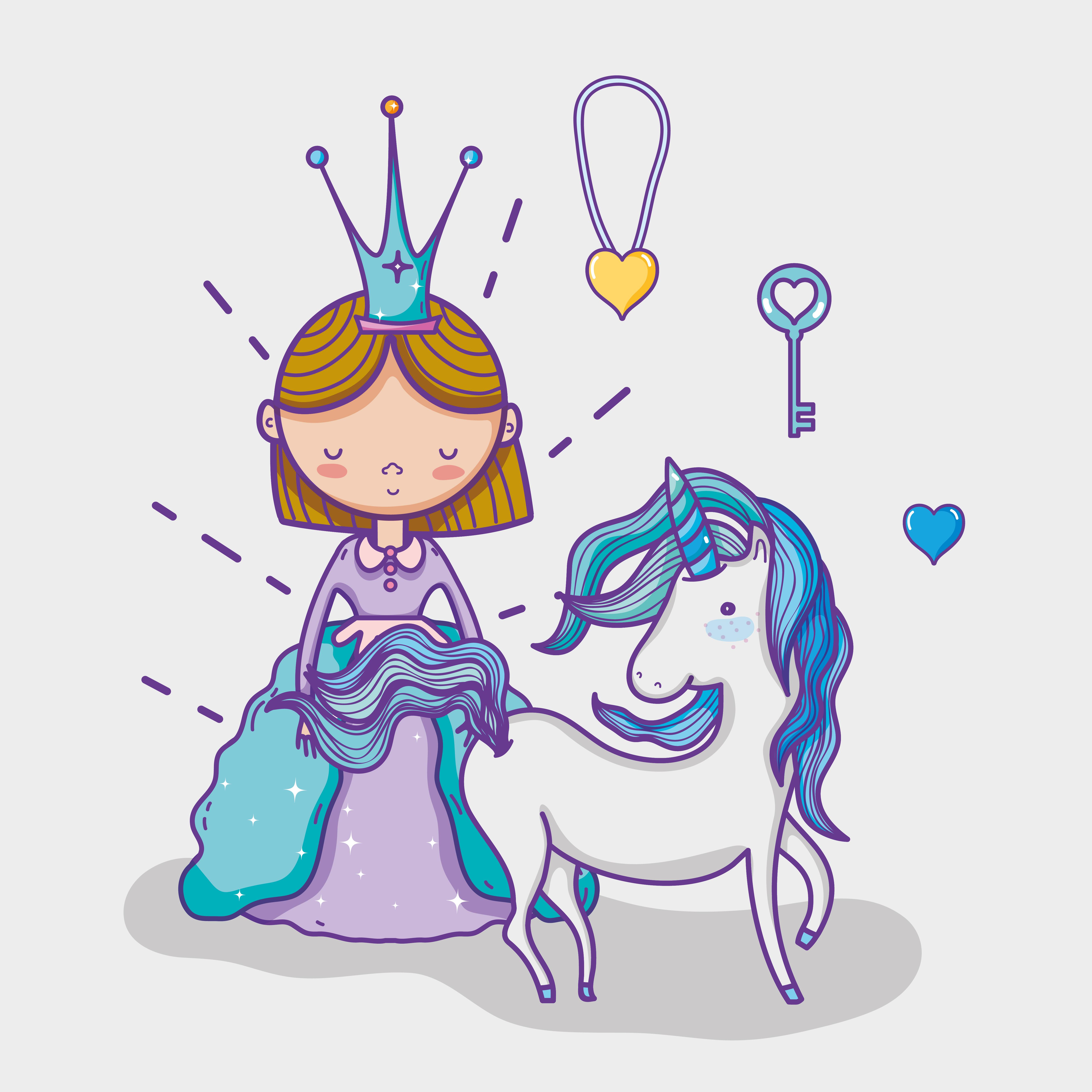 Little princess cute hand drawing cartoon - Download Free ...