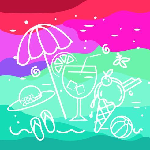 summer beach objects