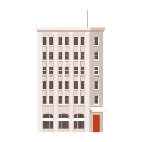 Un immeuble de style rétro. illustration vectorielle minimale de design plat style.