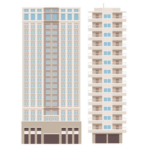 Diseño de edificios de gran altura. vector