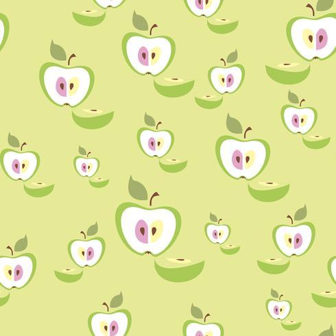 Modèle sans couture. Fond de pomme. Fruit. Illustration vectorielle