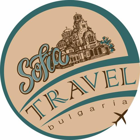 Travel. Bulgaria. Sofia. Sketch. The Cathedral of St. Alexander Nevsky. Tourism industry. Vacation. Vector. vector