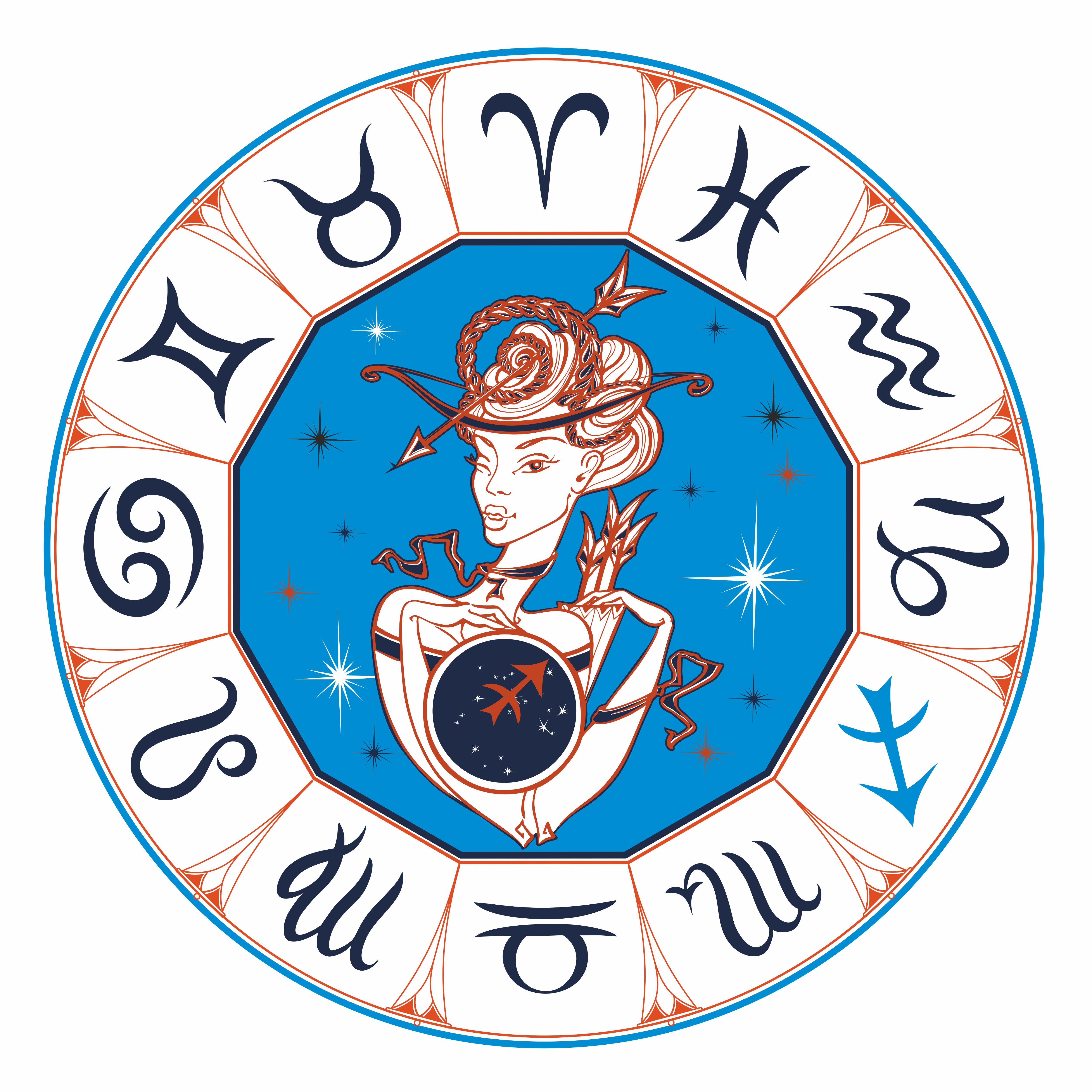 Скрапбукинг, открытки со знаками зодиака круглые