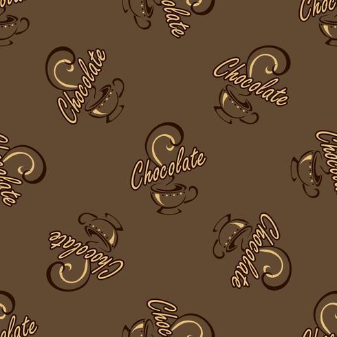Logo design per una pausa caffè. Lettering. disegno fatto a mano Vettore.