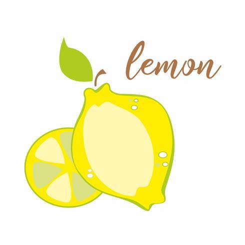 Zitrone. Obst. Inschrift. Werbebanner. Vektor-illustration
