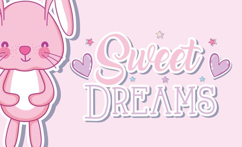 Söta drömmar kanintecknader