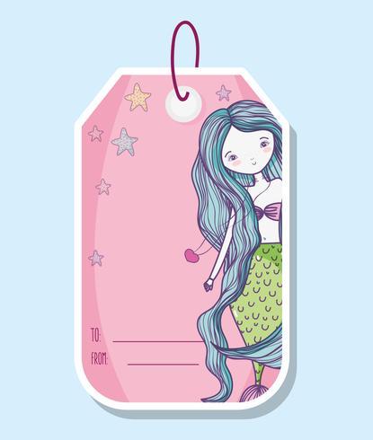 Sirena imprimible etiqueta de hoja