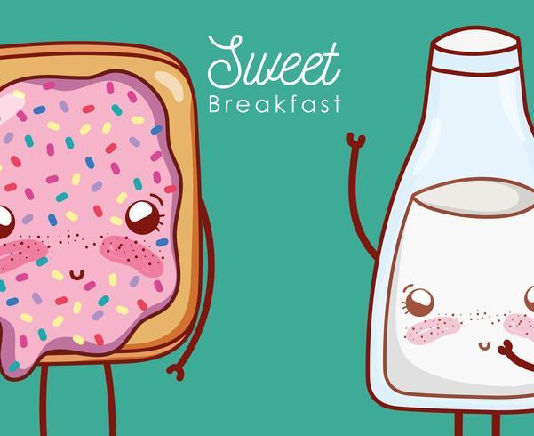 Joli petit-déjeuner kawaii