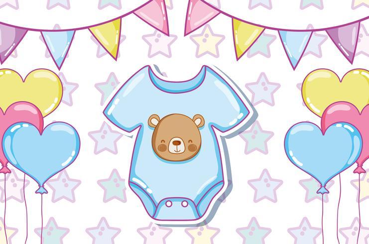 Vêtements et ballons mignons pour bébés