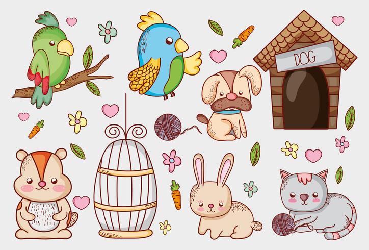 Cartoni animati del negozio di animali