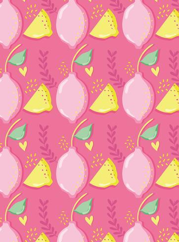 I limoni modellano il fondo il pastello punchy vettore