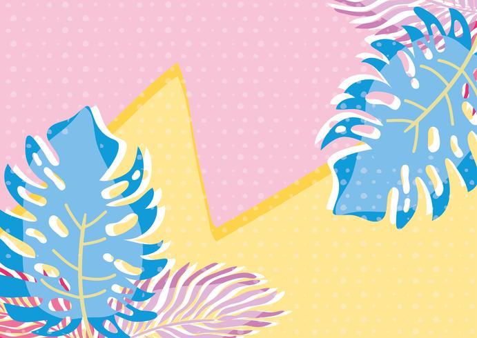 Pittige pastelbladerenachtergrond