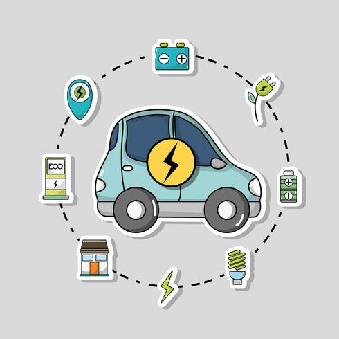 elbil med batteriladdningsteknik