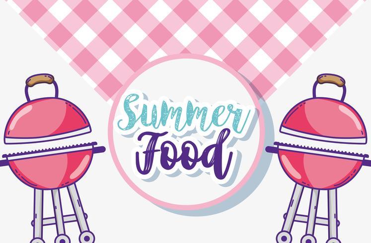 Desenhos animados de comida de verão