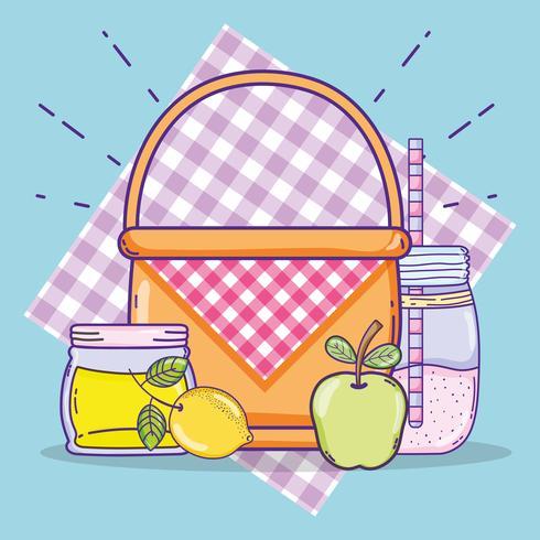 Dessins alimentaires d'été