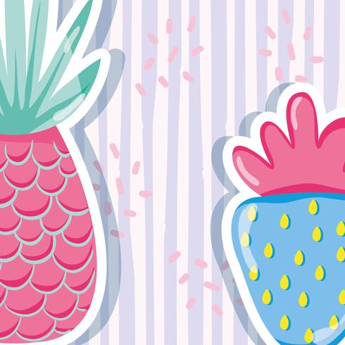 Punchy ananas pastello