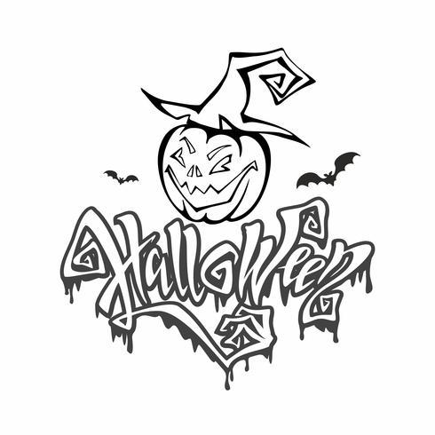 Halloween Lettrage Magique Et Sinistre Carte Postale à